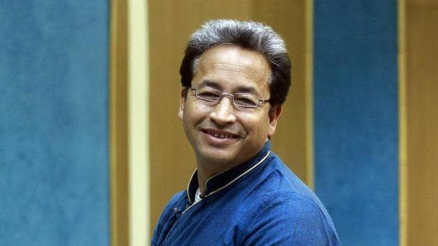 Ladakhi engineer, innovator and education reformist Sonam Wangchuk has called for a boycott of Chines goods and mobile apps.(HT FILE PHOTO)