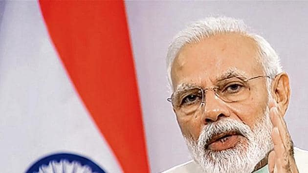 """PM Modi said one of the """"highest priorities"""" of his government is to strengthen the economy."""