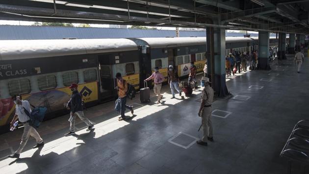 On Sunday, the Railways operated only 69 Shramik trains.(Satyabrata Tripathy/HT Photo)