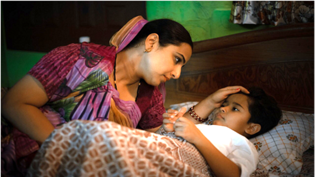 Natkhat movie review: Vidya Balan and Sanika Patel in a still from the film.