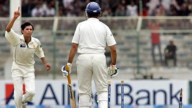 File image of VVS Laxman getting bowled out by Mohammad Asif.(Getty Images)