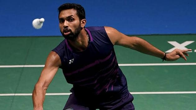 HS Prannoy in action during the 2018 Japan Open(Getty Images)