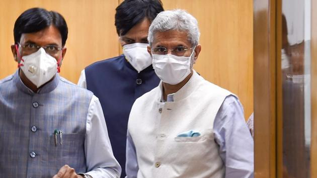 External affairs ministry S Jaishankar launched a brochure outlining India's priorities for its campaign to secure the elected seat on the UN Security Council during the election scheduled for June 17.(PTI)