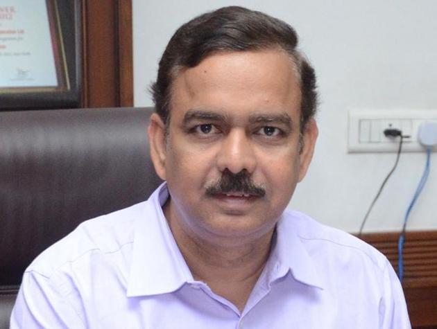 Venu Prasad, the new chairman-cum-managing director of PSPCL.(BHARAT BHUSHAN/HT)