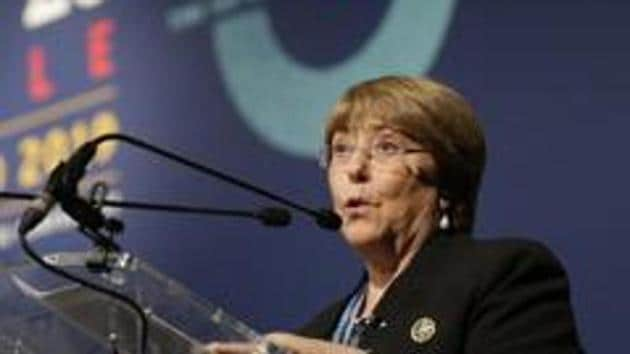 Highlighting issues from the individual nations, Bachelet had said in India, several journalists and at least one doctor have been charged for their public criticism of the authorities' response to the COVID-19.(AP)
