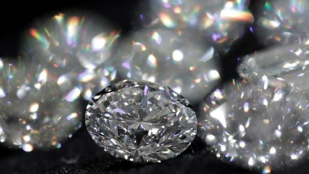 Diamonds are pictured during an official presentation by diamond producer Alrosa in Moscow, Russia.(REUTERS)