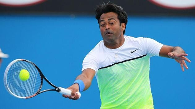 Leander Paes in action(Getty Images)