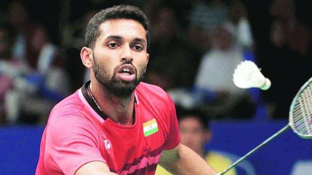 India shuttler HS Prannoy in action.(PTI Image)
