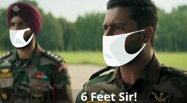 Vicky Kaushal and Dhairya Karwa in a still from Uri The Surgical Strike.