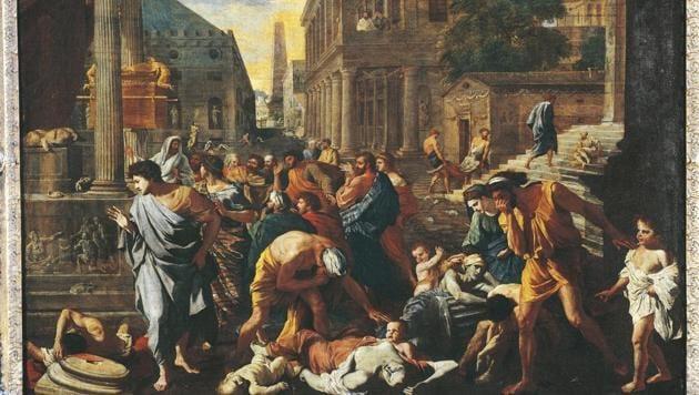 The plague of Ashdod by Nicolas Poussin (1594-1665).(De Agostini via Getty Images)