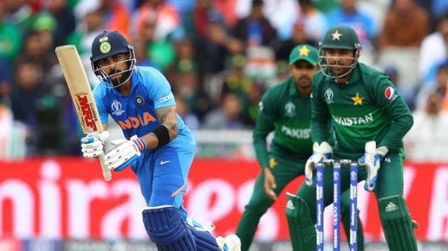 Virat Kohli of India plays against a match against Pakistan.(Getty Images)
