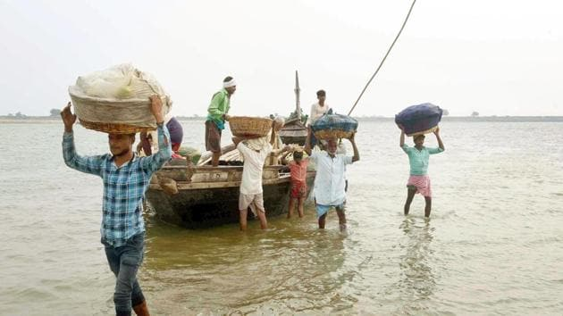 Police said a rescue operation is on to trace the deceased identified as Kadir (22), who was a native of Sikraudha village in Bhagwanpur block of Haridwar district.(HT Photo (Representative Image))