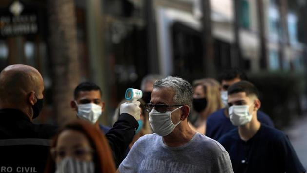 The total number of Covid-19 cases in Singapore surged past 40,000 on Saturday after 347 new infections were reported.(REUTERS)