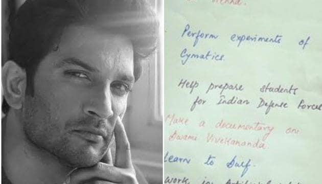Handwritten pictures of Sushant Singh Rajput's dreams are being widely shared online.