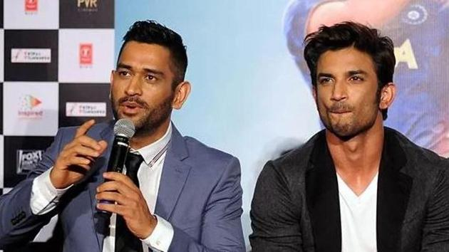MS Dhoni and Sushant Sing Rajput(Twitter)