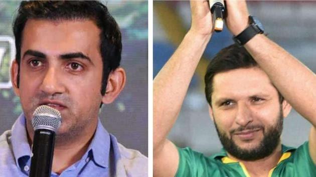 File image of Gautam Gambhir and Shahid Afridi.(PTI/HT Collage)