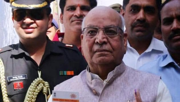 Madhya Pradesh Governor Lalji Tandon, 85, was admitted to the hospital on Saturday after he had fever and complications related to urology.(ANI file photo)