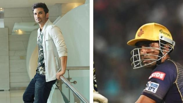 File image of Sushant Singh Rajput and Robin Uthappa.(File)