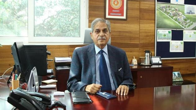 Upkar Krishan Sharma, president, GGDSD College Society.(PML SD Business School)
