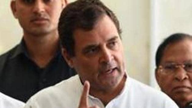 Congress leader Rahul Gandhi(Mohd Zakir/HT File)