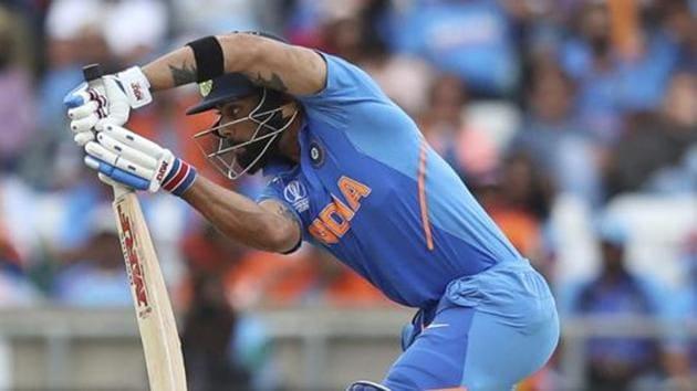 India's captain Virat Kohli bats.(AP)