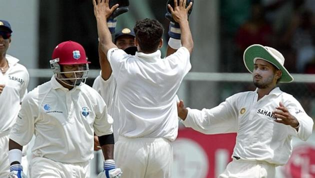 West Indies batter Brian Lara walks away after being dismissed against India(AFP via Getty Images)