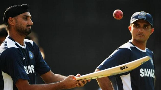 Harbhajan Singh with Sourav Ganguly.(Getty Images)