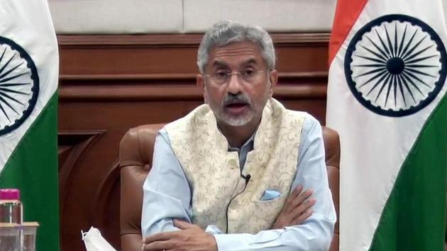 External affairs minister S. Jaishankar had a telephonic conversation with his Chinese counterpart on Wednesday afternoon.(ANI Photo)