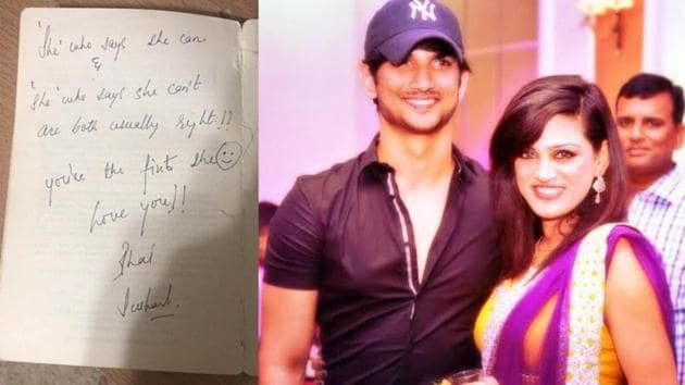 Sushant Singh Rajput's sister Shweta has shared a picture of an old handwritten card he gave her.