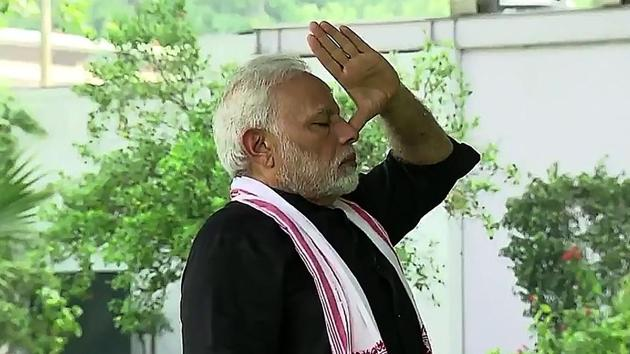 Prime Minister Narendra Modi regularly posts video of himself doing Yoga.(AFP Photo/File/representative use)