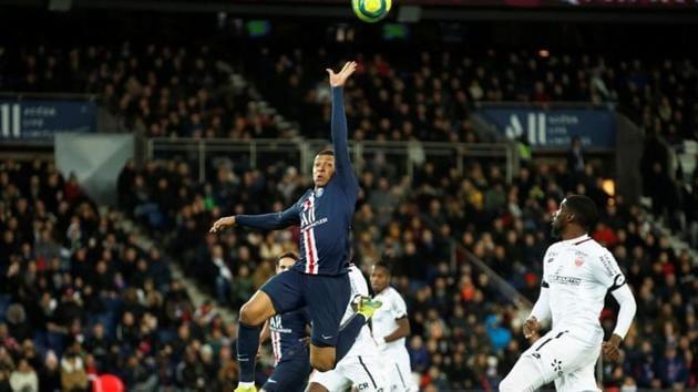 Paris St Germain's Kylian Mbappe in action.(REUTERS)