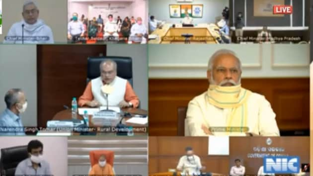 PM Modi launched the scheme through video conference in presence of Bihar chief minister Nitish Kumar(PIB (CScreengrab))