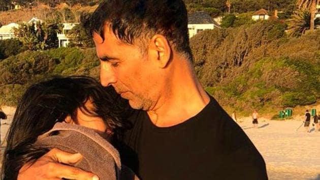 Akshay Kumar with his daughter Nitara.