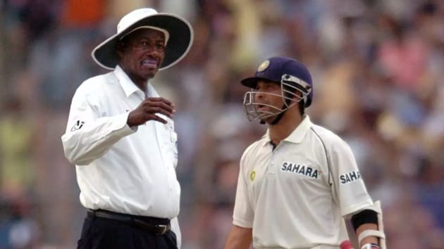 Sachin Tendulkar disagrees with Steve Bucknor.(Getty Images)