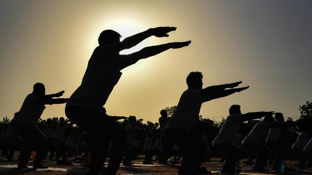 Prime Minister Narendra Modi has also stated that yoga has emerged as one of the biggest mass movements in the quest for good health and well-being across the globe in the last few years.(PTI)