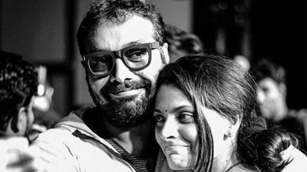 Saiyami Kher with her Choked director Anurag Kashyap.