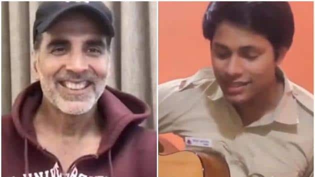 Akshay Kumar was full of praise for a young cop who sang 'Teri Mitti' from Kesari.