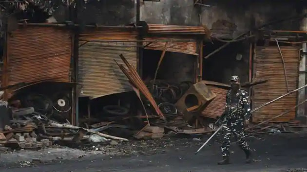 At least 53 people had died and 400 others were injured in the riots in February.(Sanchit Khanna/HT PHOTO)