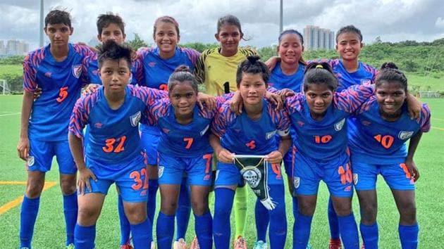 India's Women's Under17 Football team.(AIFF)