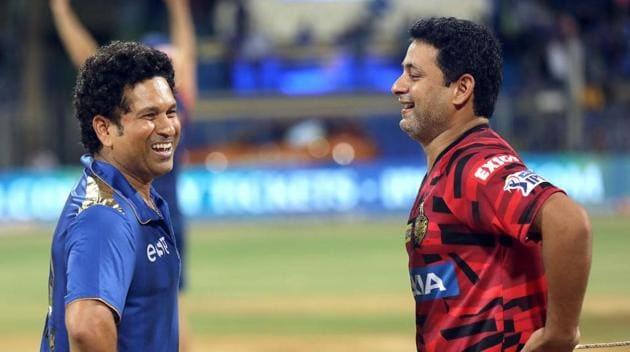 File image of Sachin Tendulkar and Piyush Chawla.(BCCI)
