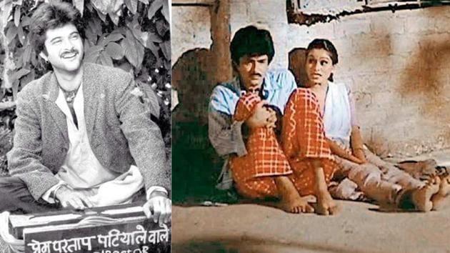 Anil Kapoor and Padmini Kolhapure in Woh Saat Din.