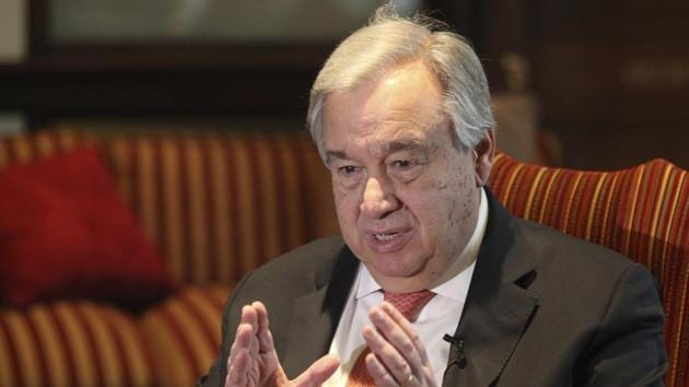 UN Secretary-General Antonio Guterres will speak before briefings from Arab League Secretary General Ahmed Aboul Gheit and UN Special Coordinator for the Middle East Nickolay Mladenov.(AP file photo)