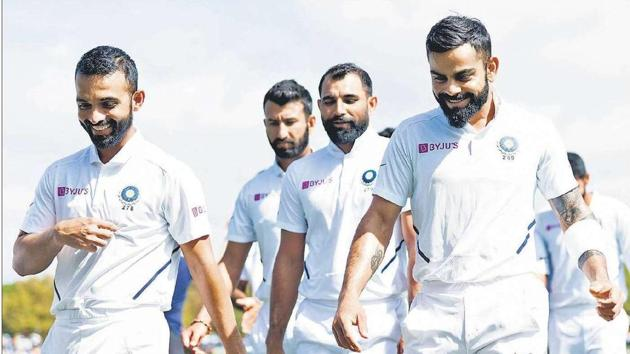 Byju's, the Indian cricket team's official sponsor, has several international investors, including Tencent, a Chinese multinational conglomerate holding company.(Getty Images)