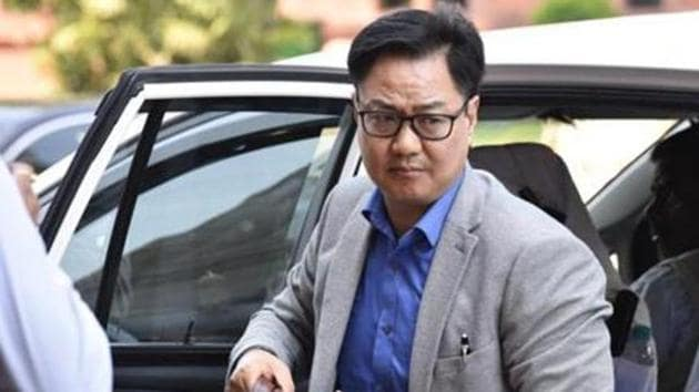 Minister of State for Youth Affairs and Sports Kiren Rijiju.(Sonu Mehta/HT PHOTO)