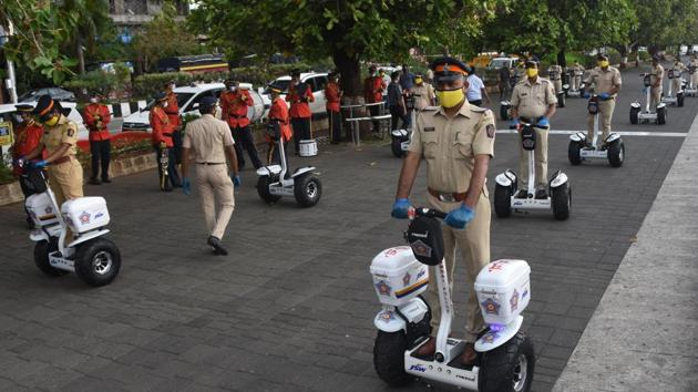 According to a Maharashtra Police statement, the total number of positive cases has risen to 4,288 including 991 active cases, 3,239 recoveries, and 54 fatalities so far.(HT PHOTO.)