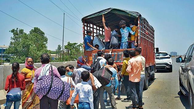 Officials pointed out that the skill mapping exercise is on at a time when several migrant workers have returned through other means, and some are still on their way back to villages.(Sakib Ali/HT photo)