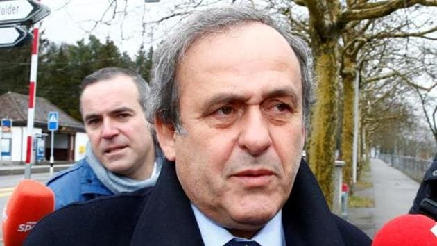 Former UEFA President Michel Platini arrives at the FIFA headquarters in Zurich.(REUTERS)