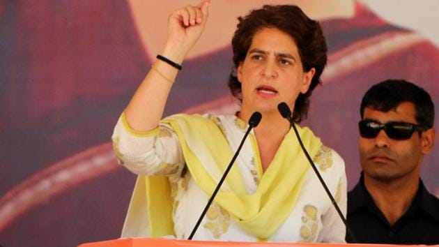 Congress leaders, who are perceived to be close to Priyanka Gandhi, said she stays at close relative and former Union minister Sheila Kaul's residence in Lucknow, whenever she visits UP.(Photo by Sanjeev Kumar/Hindustan Times)
