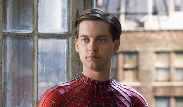 "Tobey Magiure as Spider-Man in ""Spider-Man"" (2002)"