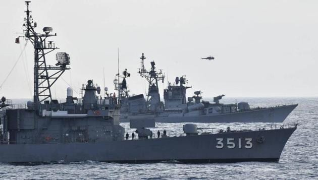 JS Kashima and JS ShimayukI (TV 3513), the JMSDF Training Squadron, conducted an exercise with INS Rana and INS Kulish, Indian Navy. This is the 15th exercise undertaken by the navies of these two nations in the last three years.(@jmsdf_pao_eng)